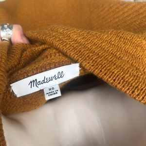Madewell Sweaters - Madewell Pumpkin Ribbed Mock-Neck Sweater